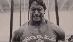 arnold in the gym